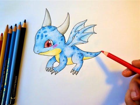 Wie malt man einen Baby Drachen ?