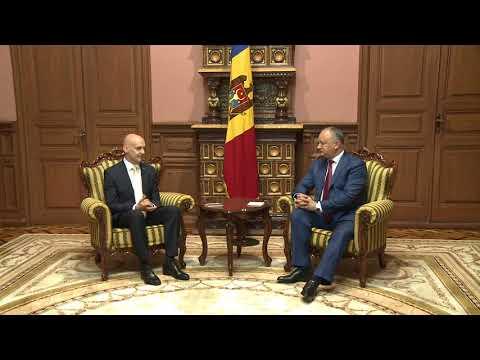 Șeful statului a avut o întrevedere de rămas bun cu domnul Atis LOTS, Ambasador Extraordinar şi Plenipotenţiar al Republicii Letonia în Republica Moldova