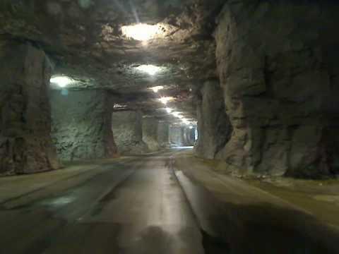 Trucking through an Underground Warehouse in Missouri