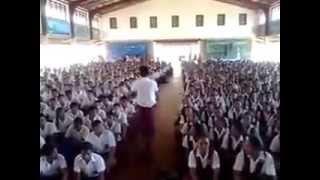 Samoan Children singing at a school assembly.