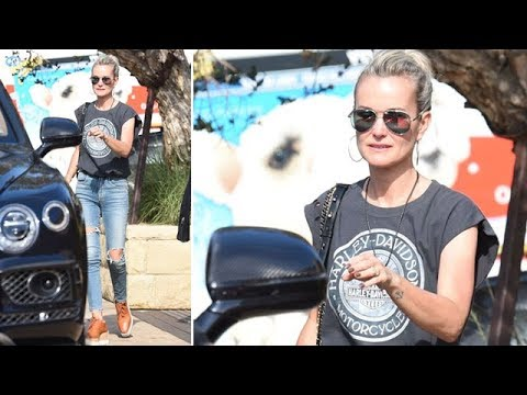 EXCLUSIVE - Laeticia Hallyday Enjoying An Afternoon At Soho In Malibu