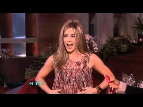 Jennifer Aniston Tests the Vibrating Bra