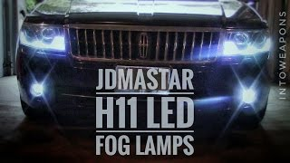 Review and Installation of the JDM ASTAR 4400 Lumens High Power LED Bulbs in Xenon White 6500k Color (https://goo.gl/80xA47).  These easy DIY Drop-in LED Bulb Replacements for cars and trucks can be used in both the Fog Lamps and Daytime Running Lamps (DRL's).  Using less energy, producing less heat, and providing a luxury look, they are an excellent budget upgrade for any vehicle!Check out Below for Helpful Links and More LED Conversion Videos!I am testing these JDM ASTAR LED Fog Lamps against my current bulbs, the Philips Diamond Vision H11's in the 5000-6000k Color Range, which is fairly impressive for Halogen Bulbs.  I was looking to get a color similar to my DRL's, so they matched while on at the same time.  Since my DRL's are running a 6500k cheap 194 T10 Wedge style LED Bulb, I needed something which would provide a comparable color, and LED is really the only option above 5500k.The JDM ASTAR H11's I am using for this installation and comparison video, are extremely easy to install and compared to factory halogen bulbs, are much cooler!  They are budget friendly, made of high quality parts, have a one-year warranty, and an extremely simple plug-and-play connection for quick installation, with mounts identical to the stock bulbs.  They provide 2200 Lumens each, which for fog light applications, does an amazing job at both field of view and distance coverage.  To see the full specifications, and different bulb types available, check them out here:  https://goo.gl/80xA47The Light provided is a very white light in the 6000-6500k range, with a hardly visible blue tint (usually seen on reflecting surfaces more than anything), that gives it a very classy look.  More than the great looks, I was more impressed with the performance of the JDM ASTAR LED Replacement H11 Fog Lights, as I usually don't expect much visibility from LED replacements, and these definitely do provide usable light in all weather conditions.  HELPFUL LINKS:**JDM ASTAR LED Fog Light Replacement Bu