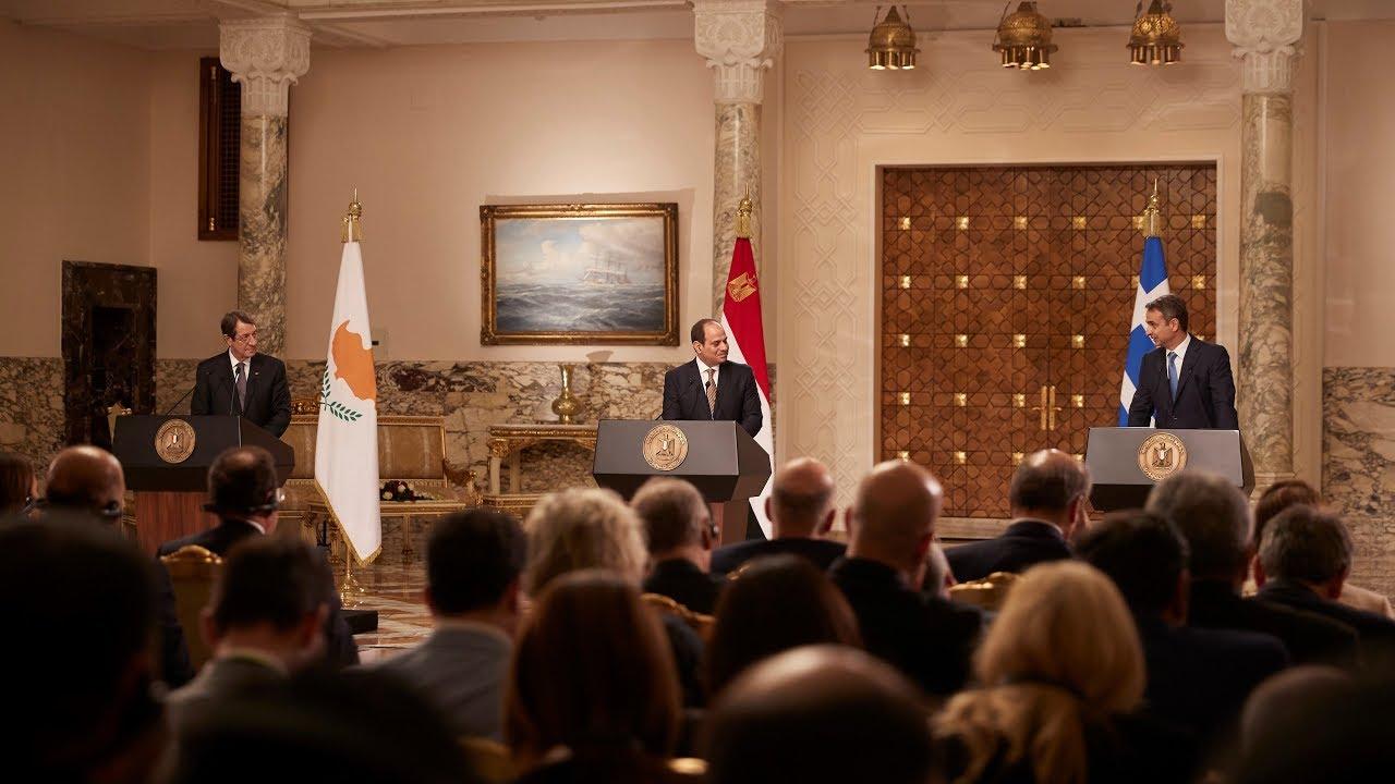 Κοινές δηλώσεις μετά την 7η Τριμερή Σύνοδο Αιγύπτου – Ελλάδας – Κύπρου
