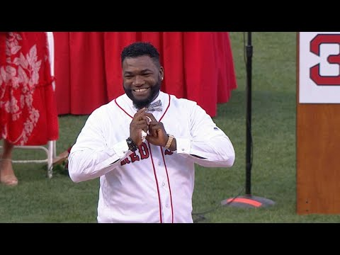 LAA@BOS: Ortiz throws out first pitch during ceremony
