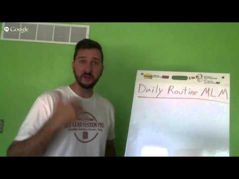 Network Marketing Daily Routine