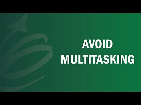 How To Avoid Multitasking - Remote Leadership Institute
