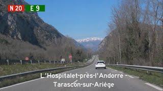 Tarascon-sur-Ariege France  city photos gallery : [F] N20 L'Hospitalet-près-l'Andorre - Tarascon-sur-Ariège