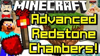 Minecraft ADVANCED REDSTONE CHAMBERS! Amazing 1.8 Creation!