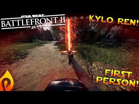 Kylo Ren First Person Gameplay In Star Wars Battlefront 2!