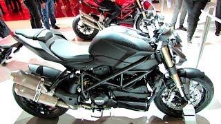 9. 2014 Ducati Streetfighter 848 (Black Colour) Walkaround - 2013 EICMA Milan Motorcycle Exhibition