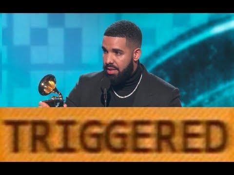 Drake gets Triggered Because he Got Cut Off During Grammys Speech