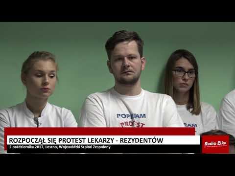 Wideo1: Lekarze rezydenci rozpoczynają protest w leszczyńskim szpitalu