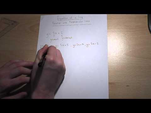 Parallele und senkrechte Linien und y = mx + c leicht gemacht, GCSE Mathematik Revision Video