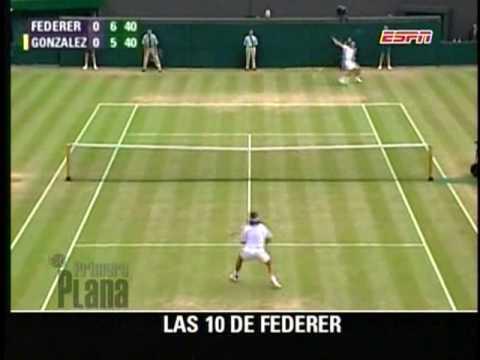 10 mejores jugadas de Roger Federer