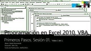 curso gratis online de VBA Programación en Excel 2010