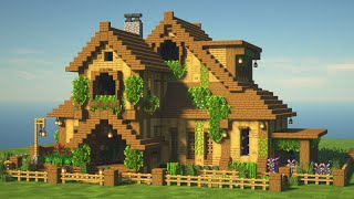 MINECRAFT: How to build a BIG WOODEN MANSION!!!