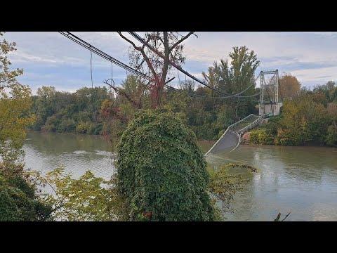 Κατάρρευση γέφυρας βόρεια της Τουλούζης