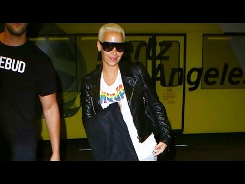 Amber Rose Has No Time For Fans At LAX