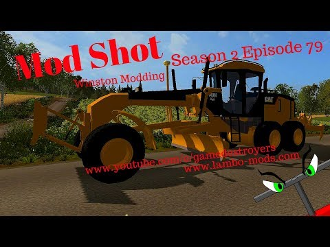 Cat 140m Road Grader by Winston Modding