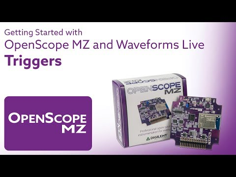 Getting Started with Open-Scope and Waveforms Live - Video 11 - Triggers