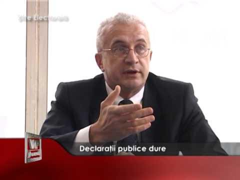 Declarații publice dure