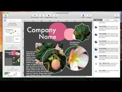 Add beautiful image shapes to email using Awesome Mails Pro 2 for Mac