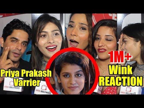 Celebrities Reaction On Priya Prakash Varrier Viral Wink   Oru Adaar Love_Celebek. Heti legjobbak