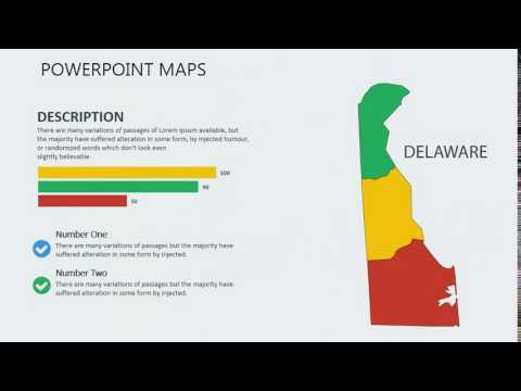 PowerPoint maps of Delaware with Counties