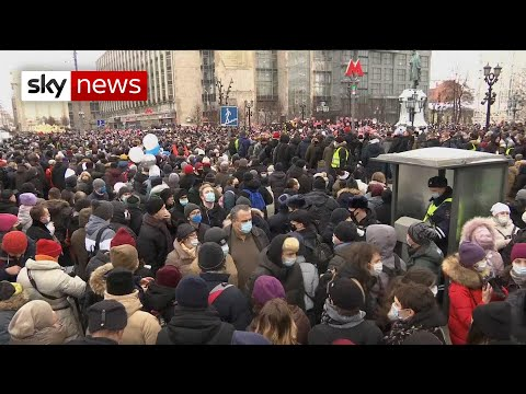 Mass protest in Moscow in support of Alexei Navalny