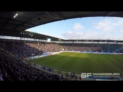 Video: 1. FC Magdeburg gegen SC Fortuna Köln - Support im HKS (HD Feb. 2016)