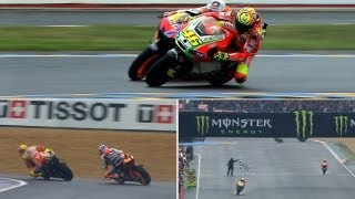Video Best Battles of 2012: Valentino Rossi vs Casey Stoner in Le Mans MP3, 3GP, MP4, WEBM, AVI, FLV Juli 2018