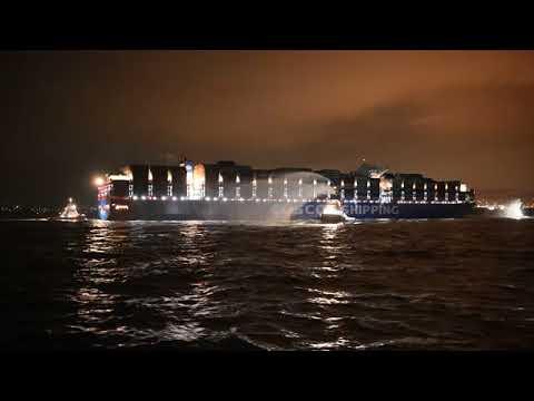 Cosco Shipping Taurus: Το μεγαλύτερο containership που έχει πλαγιοδετήσει στον Πειραιά