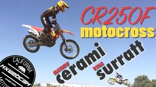 Watch more MX videos http://www.mxwc.com/Subscribe to the channel http://youtube.com/mxwebcamThumbs up and share for more motocross videos. Thanks for watching!YouTube Link https://youtu.be/xXlccnIyQ5gMXWEBCAM Presents:CR250F Motocross ft. Matt Cerami and Ryan Surratt riding their trusty Honda dirt bikes at Milestone MX in Riverside, California. FILM LOCATION:Milestone MX ParkRIDERS:Ryan SurrattMatt CeramiCOUNTY:Riverside, CaliforniaVIDEO PRODUCTION:mxwebcam - mxwc.com