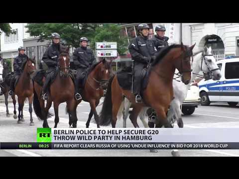 Party Protocol: German police officers go wild while preparing for G20 summit