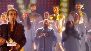 Le Sankofa-Unit et le groupe Radio Elvis lors des Victoires de la musique 2017