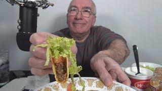 ASMR Eating Crunchy Tacos Night Whispering