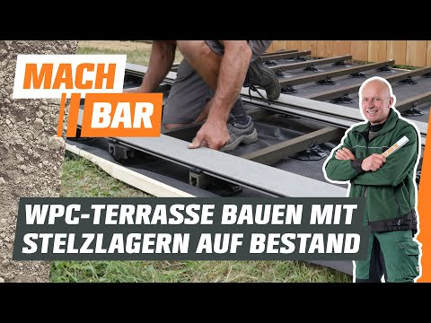 WPC-Terrasse bauen auf Bestandsbelag - mit Stelzlagern | OBI