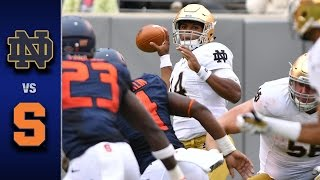 Notre Dame vs. Syracuse Football Highlights (2016)