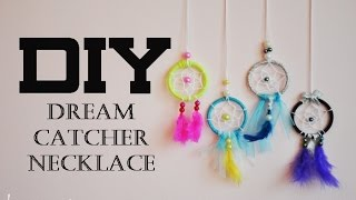 DIY-dea: Dream Catcher Necklace | lacarmeo4 - YouTube