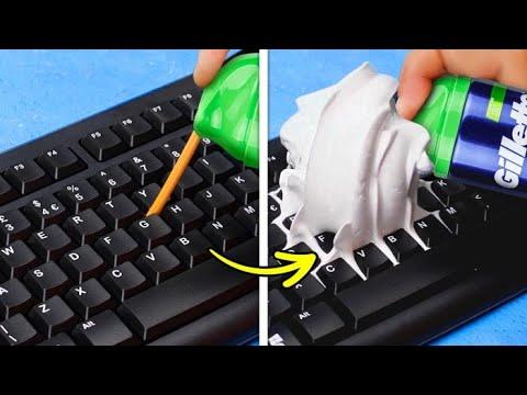 33 HANDY EVERYDAY LIFE HACKS || Genius DIY Ideas For Cleaning, Organization, Glue Gun And Slime