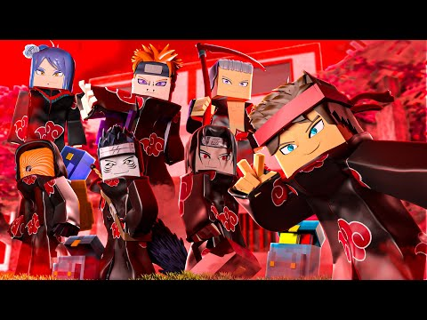 minecraft mas... NA ESCOLA DA AKATSUKI DO NARUTO!
