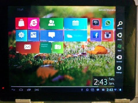 How to Install Windows 8 Metro Launcher PRO on Android/Tablets   Free  