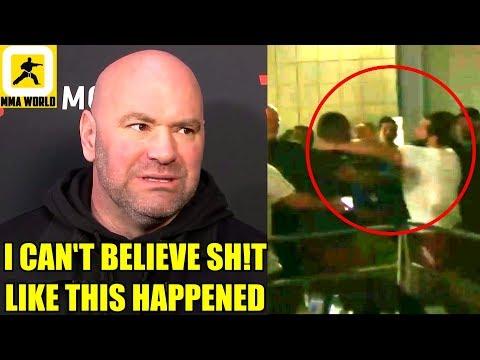 MMA Community Reacts to the backstage altercation between Jorge Masvidal and Leon Edwards,Dana White