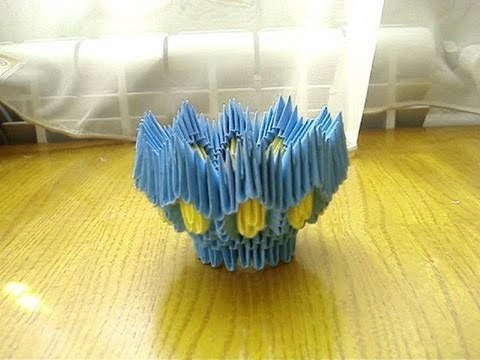 3D Origami Egg Stand Tutorial