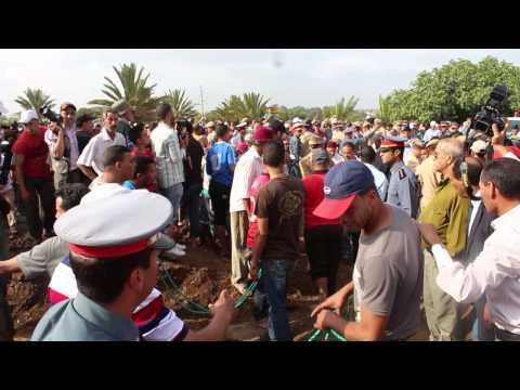 تشييع جثامين الأطفال الستة الذين غرقوا بشاطئ بواد الشراط