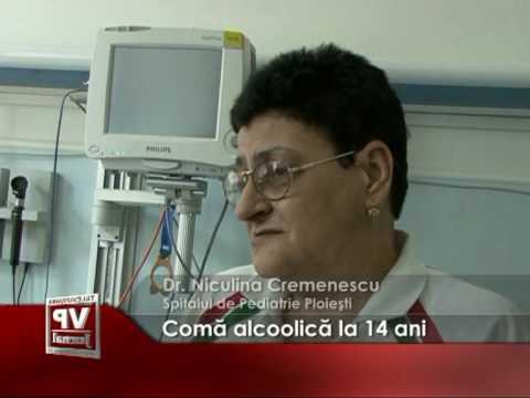 Comă alcoolică la 14 ani