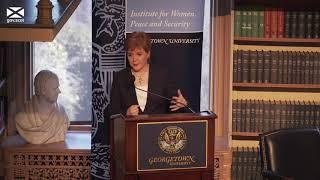 First Minister speech at Georgetown University USA