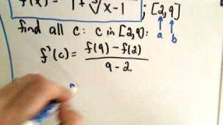 how to use mean value theorem