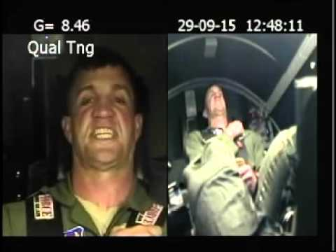 Watch this man go through a 9G centrifuge test